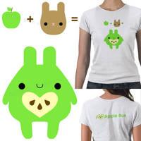 Apple Bun tshirt omg by hellohappycrafts
