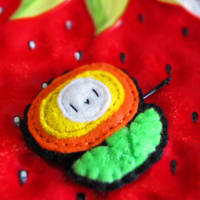Mario fireflower bobby pin by hellohappycrafts