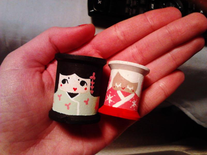 two little kokeshi by hellohappycrafts