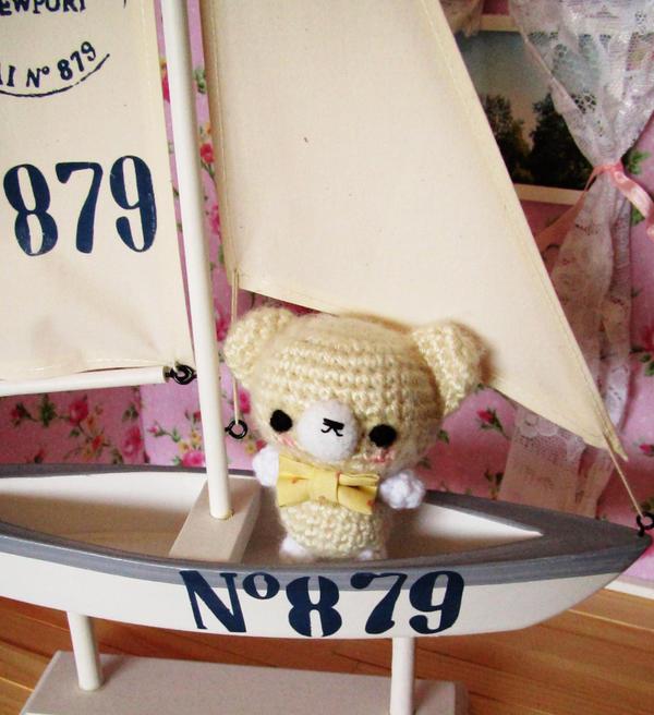Luke - crochet amigurumi bear by hellohappycrafts