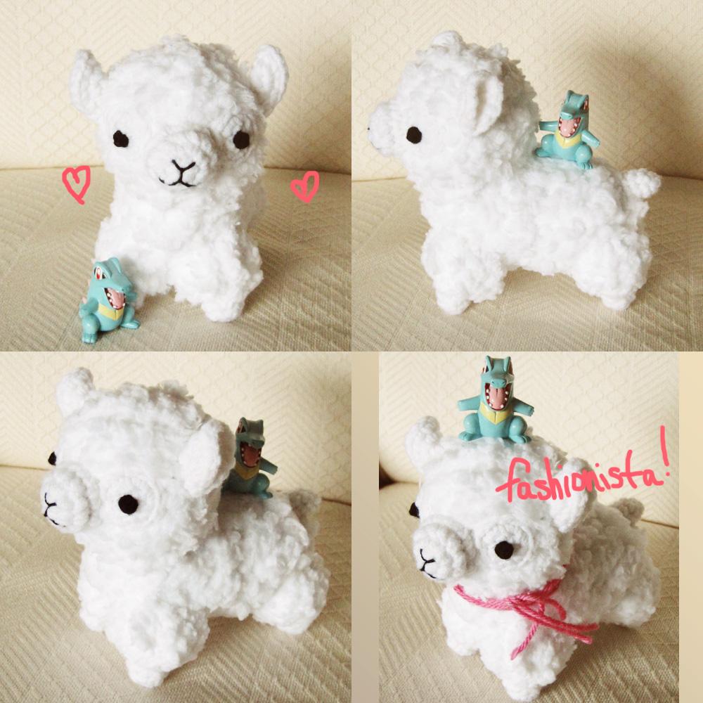 Amigurumi Alpaca : Kawaii amigurumi alpaca for trade by hellohappycrafts on ...