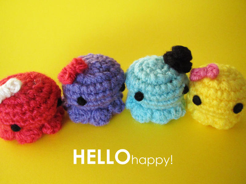 Easy Amigurumi Octopus : Tiny amigurumi octopus by hellohappycrafts on deviantart