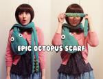 crochet epic octopus scarf tentacle pattern