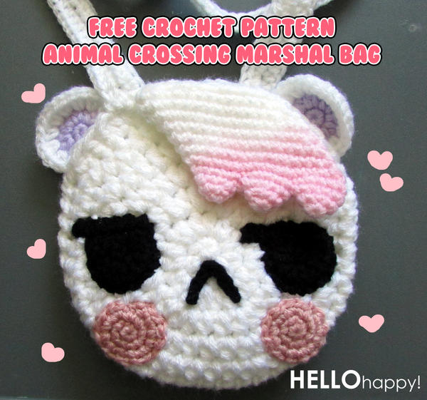 Crochet Animal Bag Free Pattern : Animal Crossing Marshal bag - free crochet pattern by ...