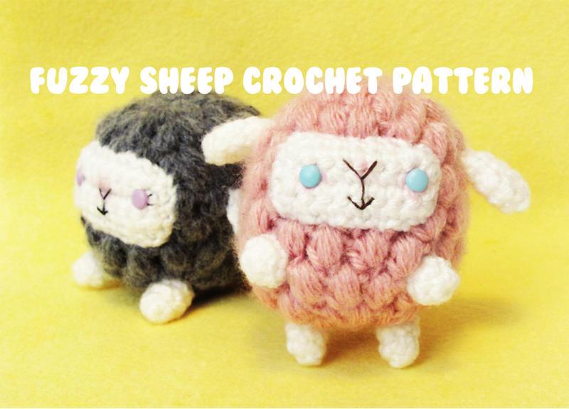 Free Kawaii Amigurumi Patterns : Cute n kawaii fuzzy sheep crochet pattern pdf by