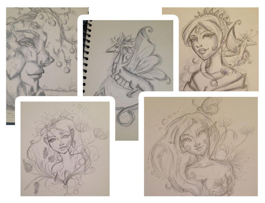 Sketches by DandeiraArt