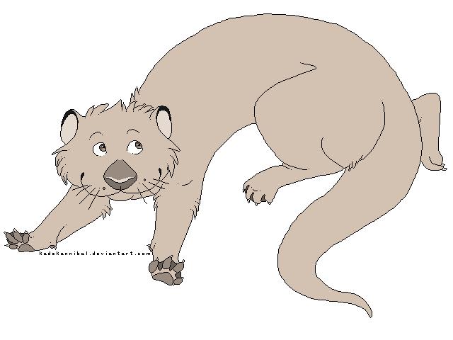 Line Art Free : Otter lineart free use by kadekannibal on deviantart