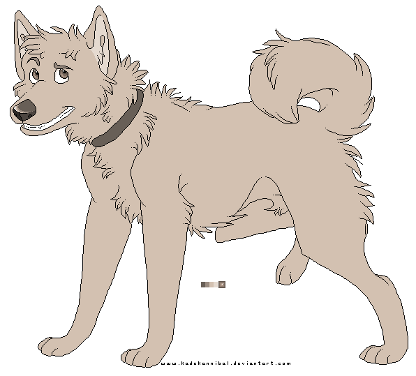 Husky Lineart : FREE USE by kadeKANNIBAL