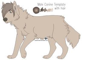 FREE USE : Male Canine Lineart by kadeKANNIBAL