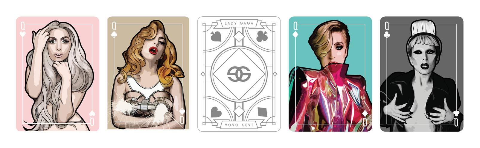 Lady Gaga playing card Queen set