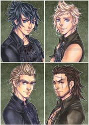 chocobros - ffxv by pencil-butter