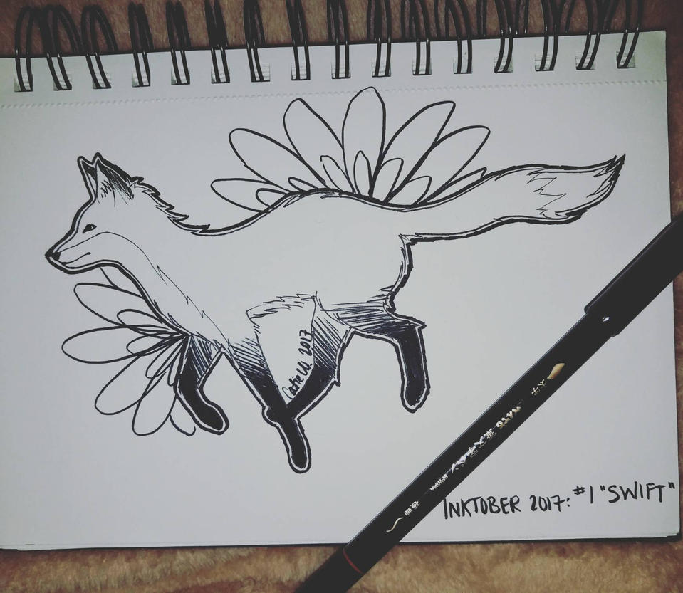 Inktober 2017 Day 1: Swift by CatieCreates