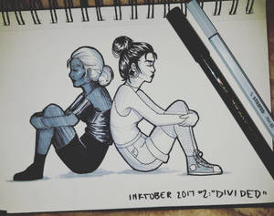 Inktober 2017 Day 2: Divided