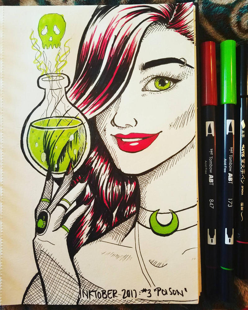 Inktober 2017 Day 3: Poison by CatieCreates