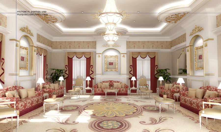 Main majlis 2 by kristanno on deviantart for Arabic living room decoration