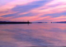 Pink sunset by Olga17