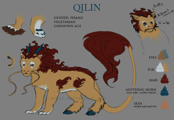 qilin characte sheet by ankin
