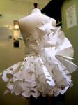 paper dress -back