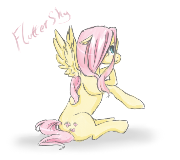 Fluttershy -sketch- by CrisisDragonfly