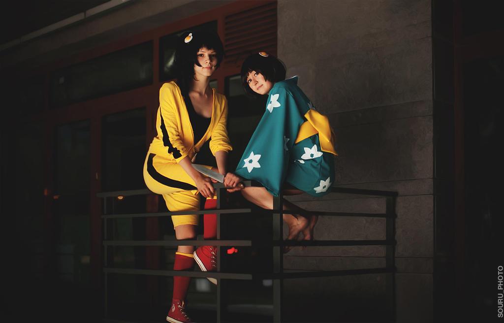 Fiery sisters by Haku-Rei