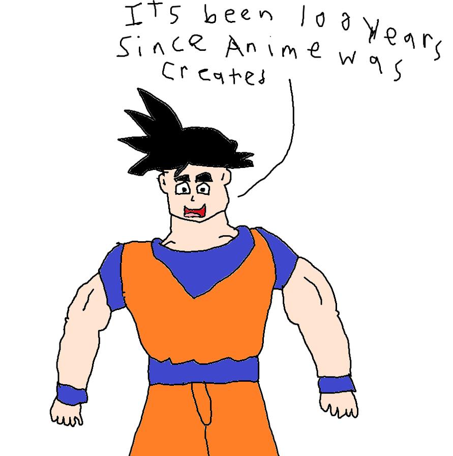 goku celebrating 100 years of anime by simpsonsfanatic33 on deviantart