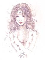 Naruto: Kurenai sketch by chuwei