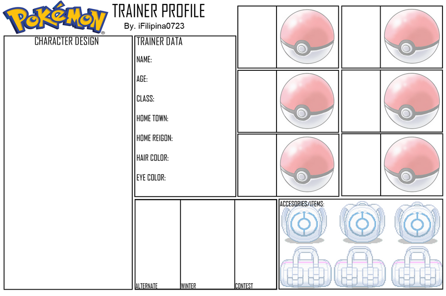 blank pokemon trainer profile by ifilipina0723 on deviantart. Black Bedroom Furniture Sets. Home Design Ideas