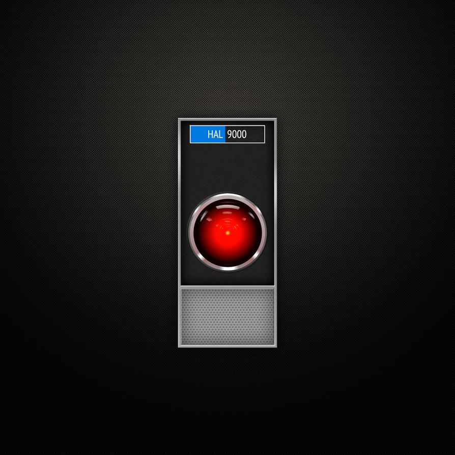 HAL9000 iPad 3 Retina Wallpaper by arrizer