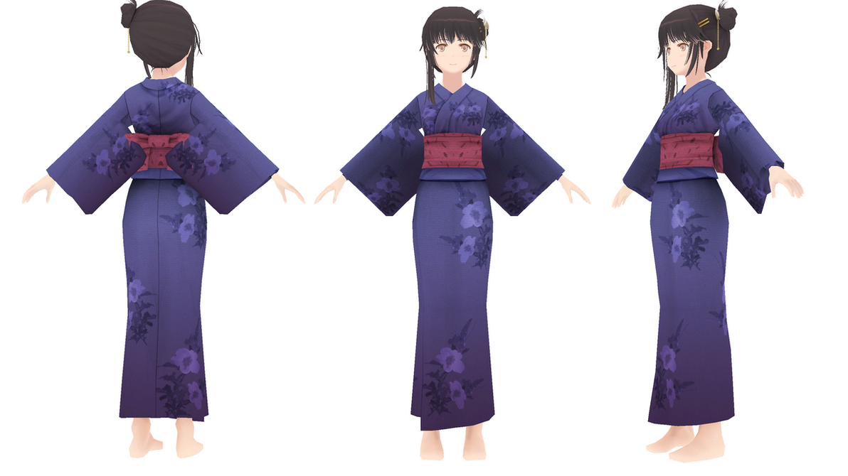 MMD hatsune miku kimono DL!! by taigalove on DeviantArt