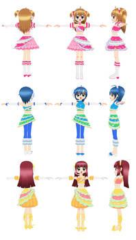 MMD Kirarin Revolution - Milky Way Original Outfit
