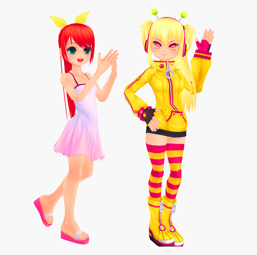 MMD Pangya - Hana and Spika Models Download by xxSnowCherryxx