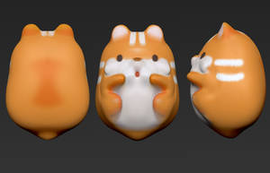 Zbrush 3D Sculpt - IBloom Squishy Pom Pom Hamster