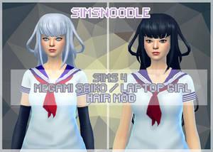 Sims 4 YandereSimulator Megami Saiko Hair DOWNLOAD