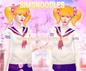 Sims 4  Yandere Simulator - Rival Chan Hair Mod