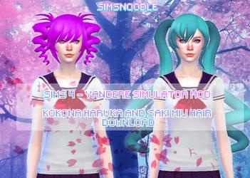 Sims 4 Mod -  Kokona Haruka Saki Miyu Download by xxSnowCherryxx