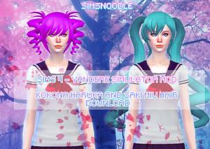 Sims 4 Mod -  Kokona Haruka Saki Miyu Download
