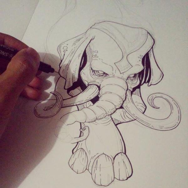 Old Elephant by iwai