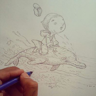 Dolphin Day WIP by iwai