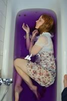 Bathtub purple by Fuchsfee-Stock
