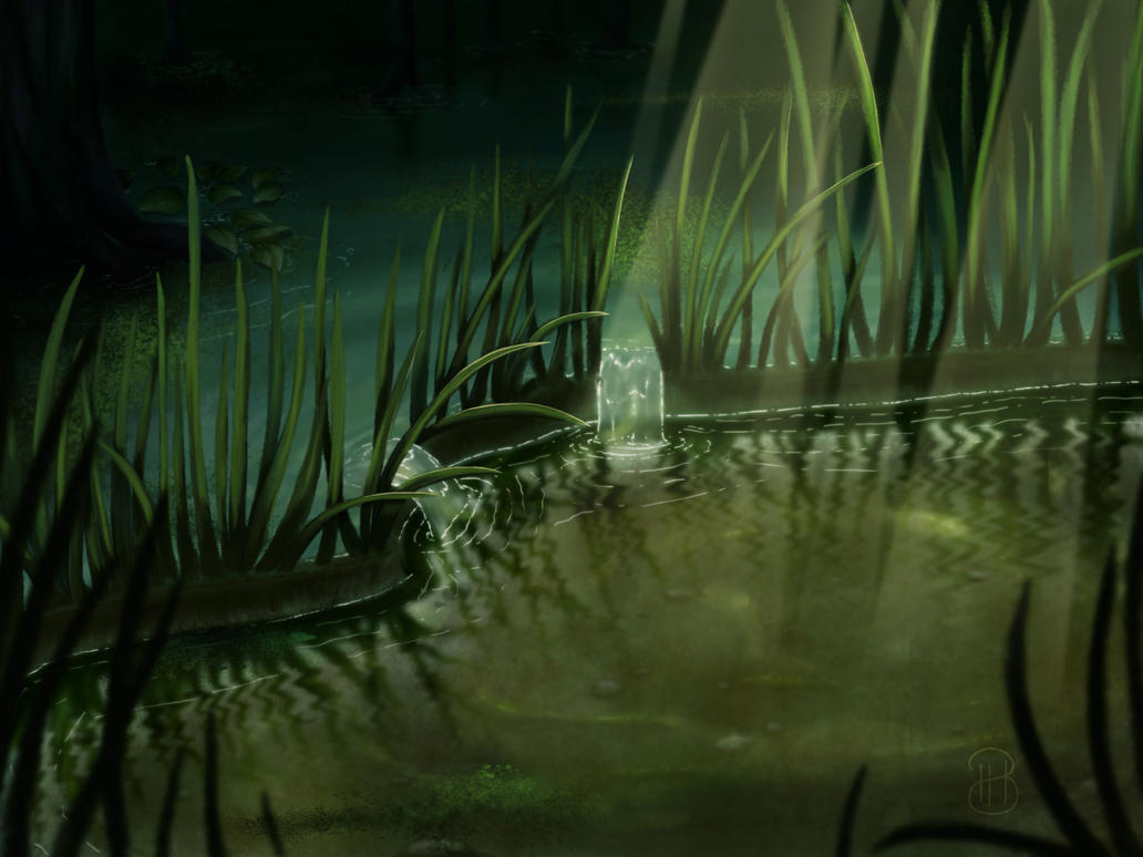 [ Background ] A little Pool in a Swamp by Dreamsverse