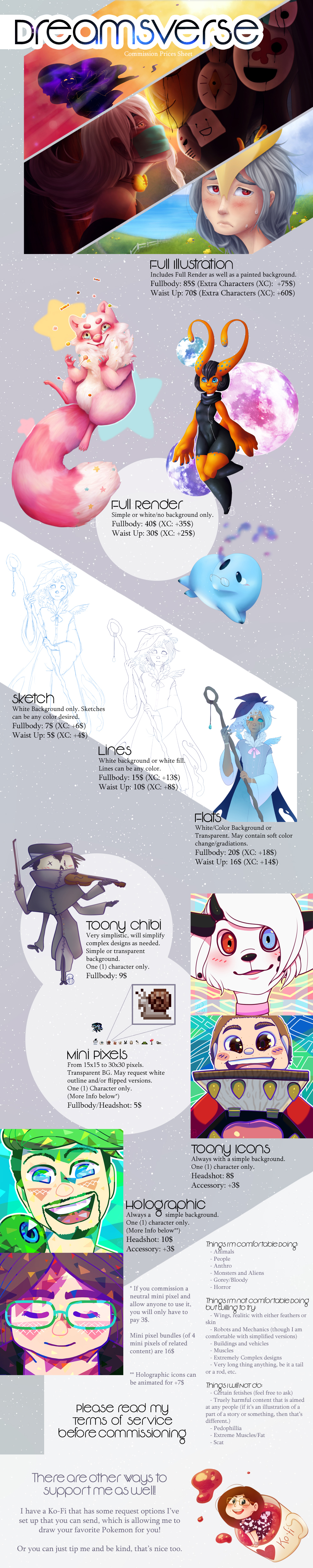 [ Commission ] Price Sheet [ OPEN ] by Dreamsverse