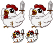 [ Commission ] Battle Chickens for Meg by Dreamsverse