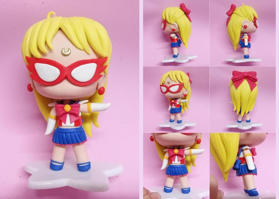 Sailor V (Sailor Moon) Custom Handmade Figure by bellakenobi