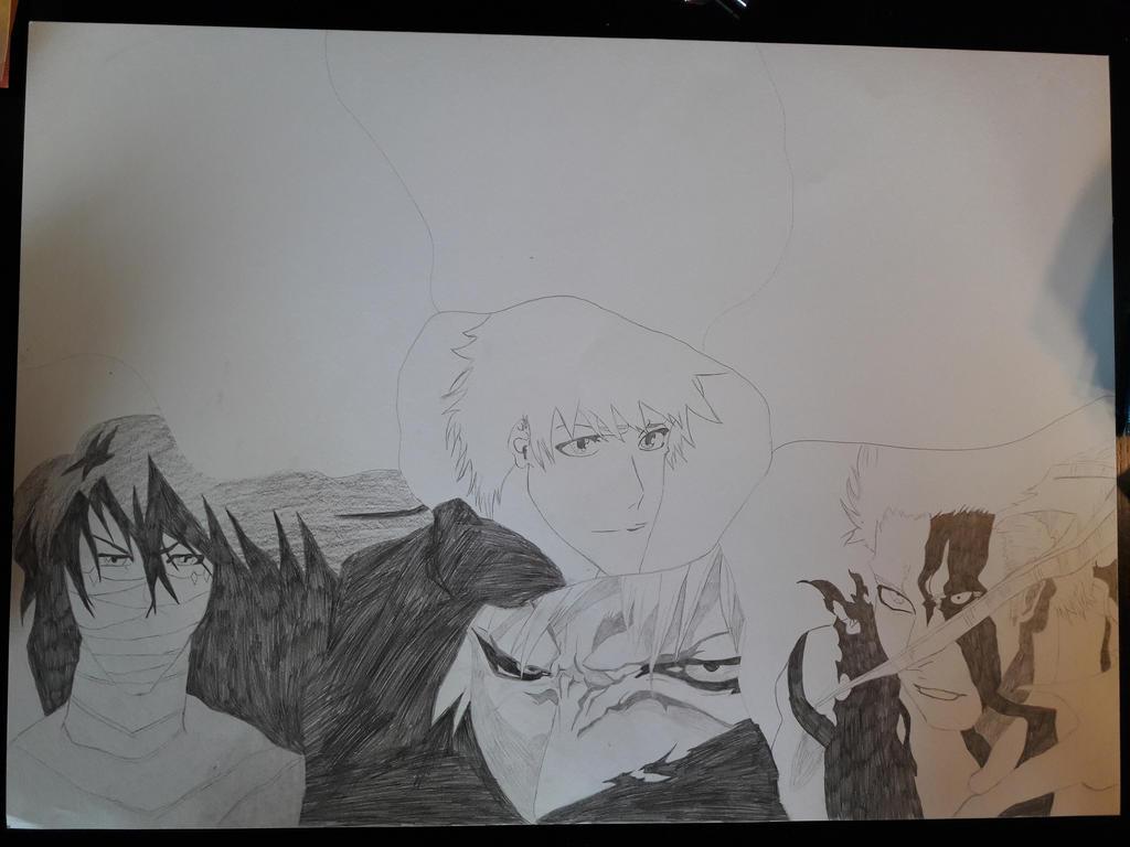Ichigo Kurosaki Hollow/Quincy form by SicaChii