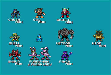 Megaman-FanProject : Boss prototypes -update-