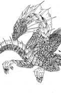 Green dragon club id lineart by Clone-Trooper