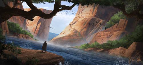 Canyon River Sketch