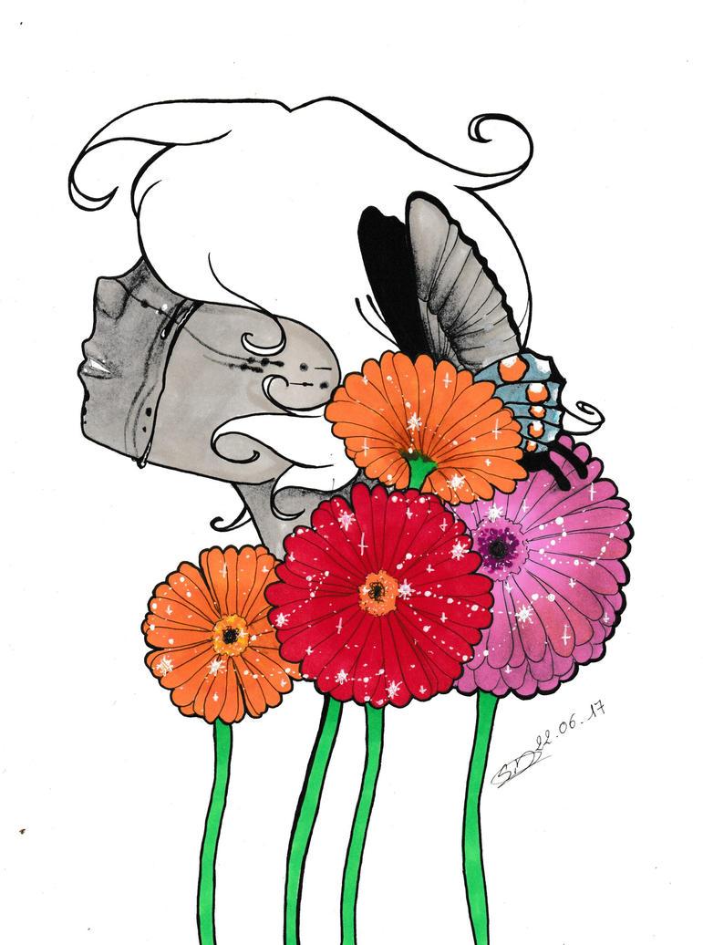 Star flower by littlepoligati