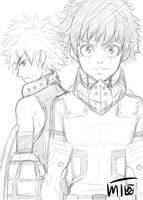 Hero Academia Sketch by mewTalina