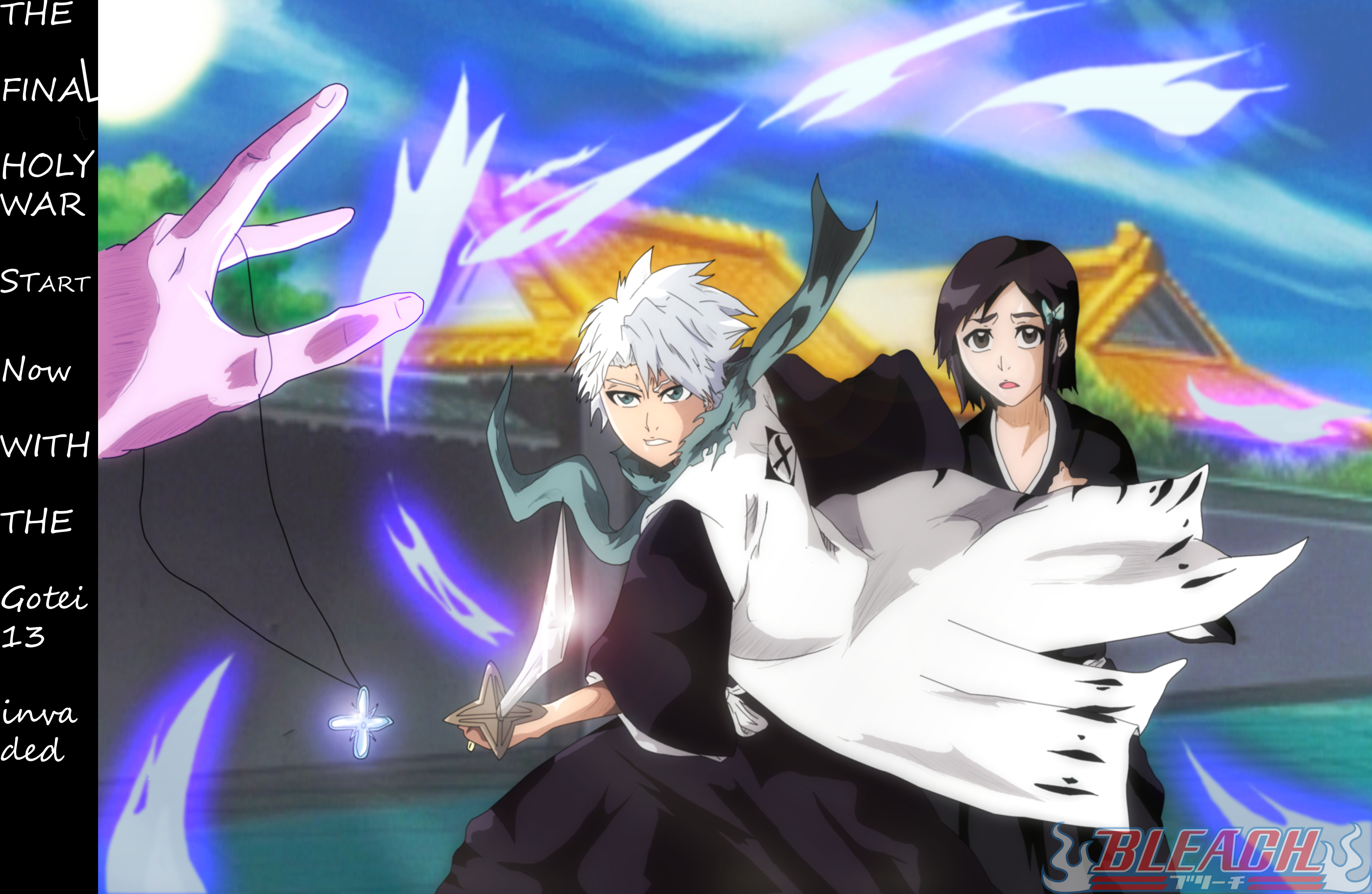 Bleach Toshiro Momo Group New Look By Greengiant2012